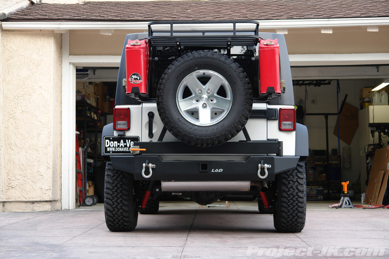 Lod Jk Rear Bumper Tire Carrier Finished Amp Installed