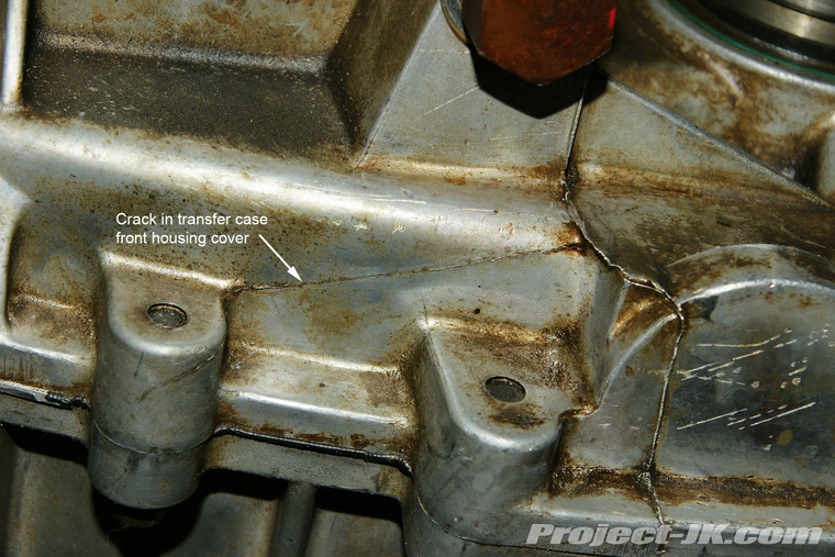 Cracked Our Rubicon NV241 OR Transfer Case Housing JK