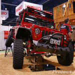 Skyjacker Red Jeep JK Wrangler 4-Door