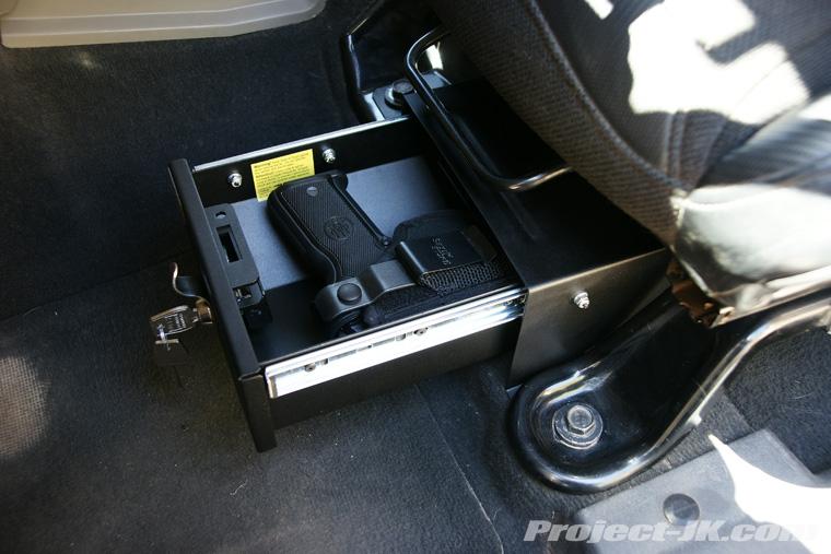 Under Seat Locking Storage Advice Jk Forum Com The Top
