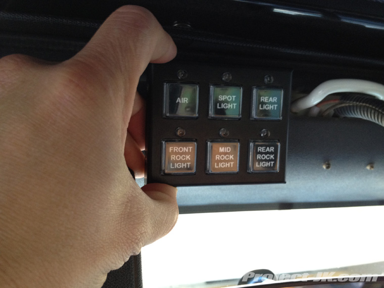 Moby\'s NEW Off Road Engineering Custom Switch Panel Installed!!