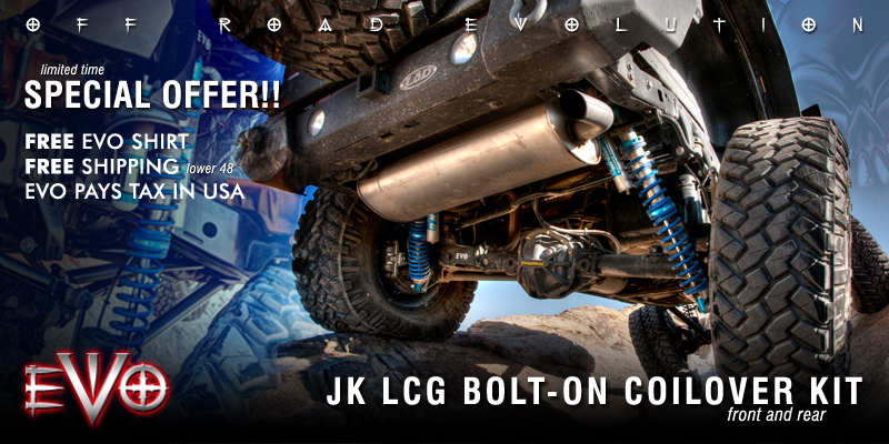 b631d15b With a foundation in the first and most proven coilover systems for the  Jeep JK, EVO MFG brings you its new LCG Bolt-On Coilover System.