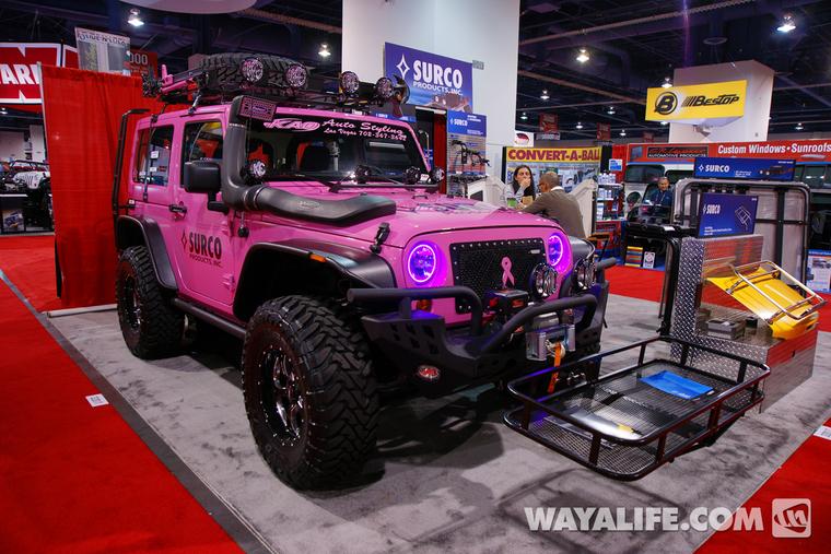 Pink Jeep Wrangler >> 2012 Sema Surco Pink 2 Door Jeep Jk Wrangler