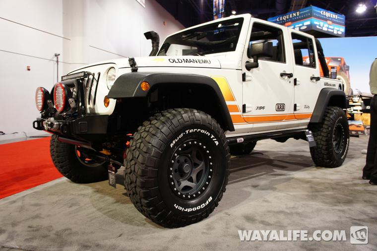 2012 sema arb white 4 door jeep jk wrangler. Black Bedroom Furniture Sets. Home Design Ideas