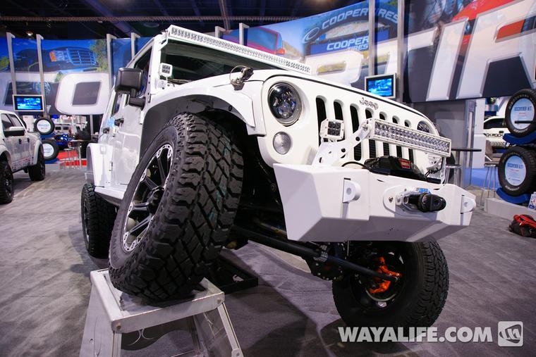 2012 Sema Cooper Tire White 4 Door Jeep Jk Wrangler