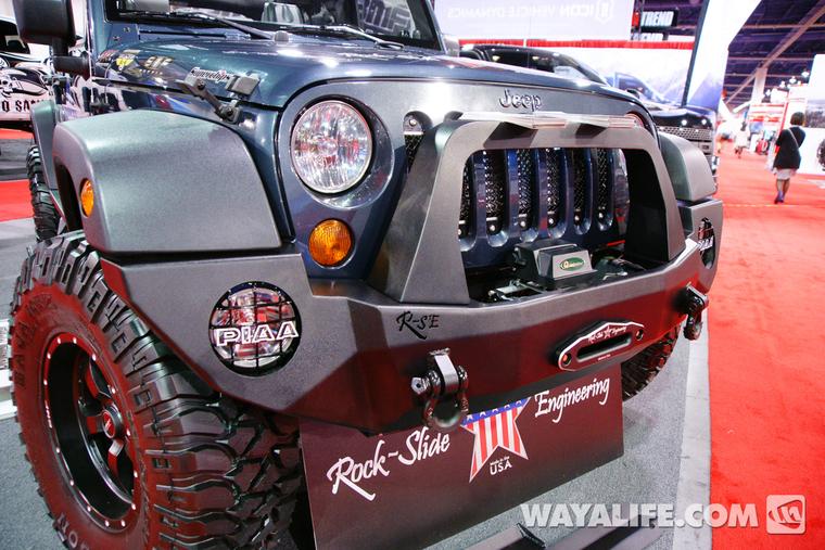 2012 Sema Rock Slide Engineering Steel Blue 4 Door Jeep Jk