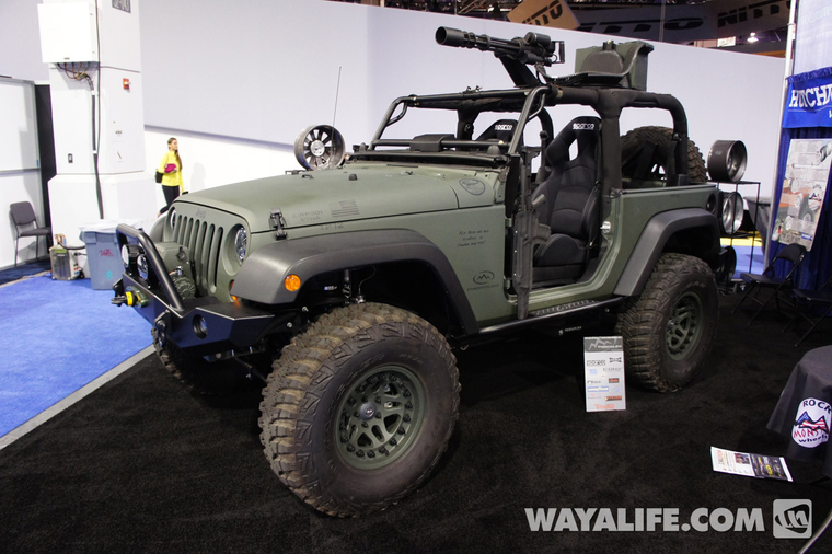 2012 SEMA Hutchinson Green 2-Door Jeep JK Wrangler