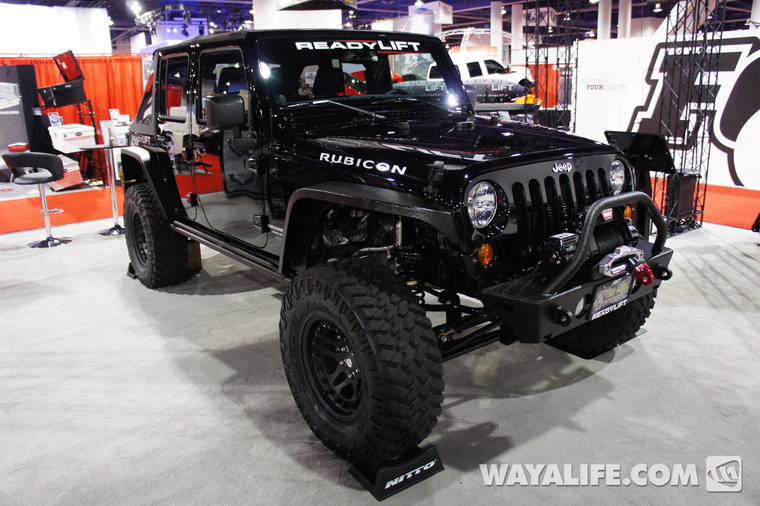 2012 Sema Readylift Black 4 Door Jeep Jk Wrangler