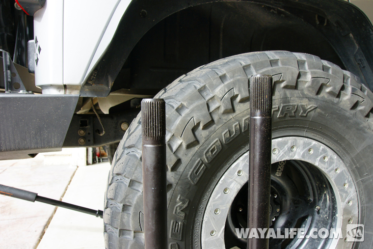 Jeep JK Wrangler Rear Axle Shaft Removal & Installation Write-Up