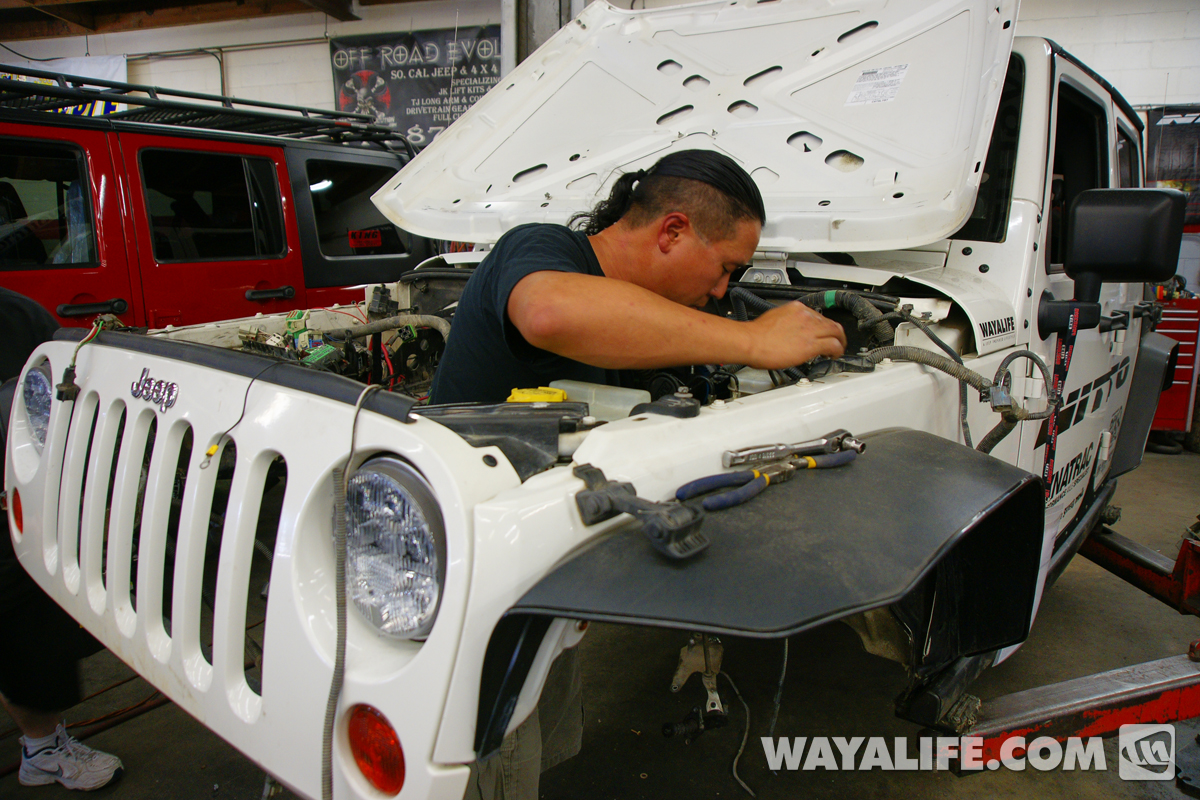 Its Time To Supersize Moby Motech 62l Ls Jeep Motor Swap Page 33 Jeepster Wiring Harness Removing The Stock Jk