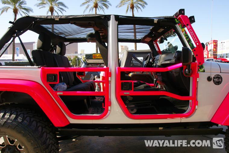 2013 Sema Dalto White Pink 4 Door Jeep Jk Wrangler