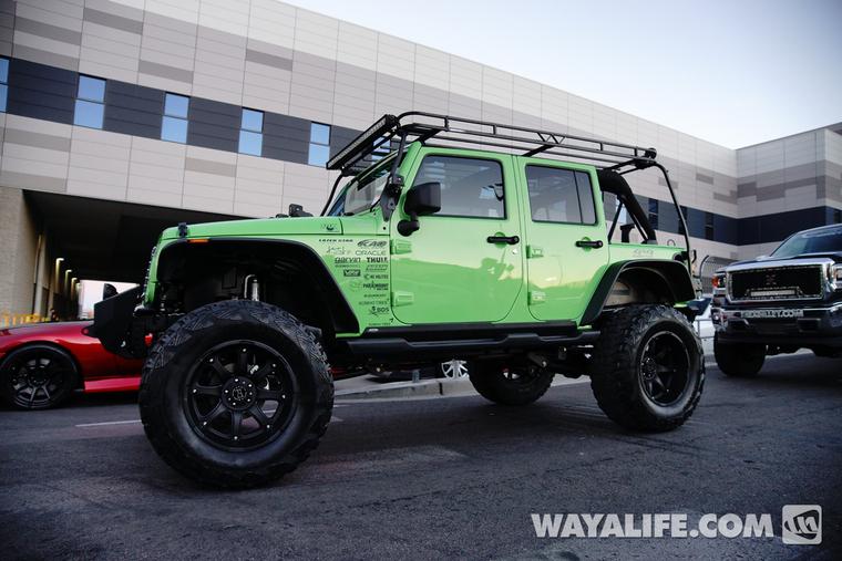 2013 sema mint green kao jeep jk wrangler 4 door. Black Bedroom Furniture Sets. Home Design Ideas