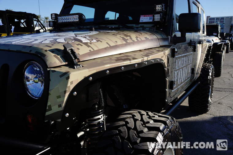 2013 Sema Camo American Force Jeep Jk Wrangler 4 Door