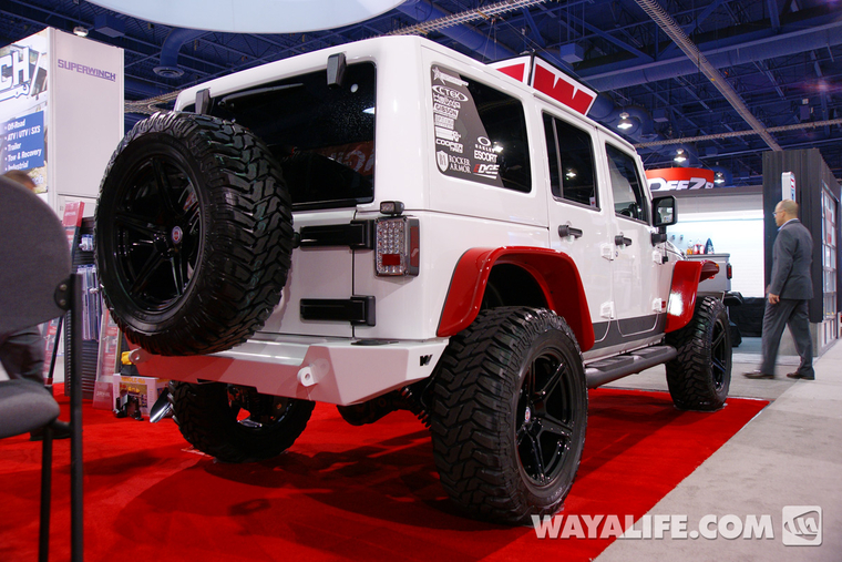 2013 Sema Hi Lift White Jeep Jk Wrangler 4 Door