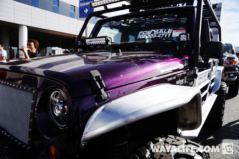 Jeep Wrangler Renegade >> 2013 SEMA Purple KAO Jeep JK Wrangler 4-Door