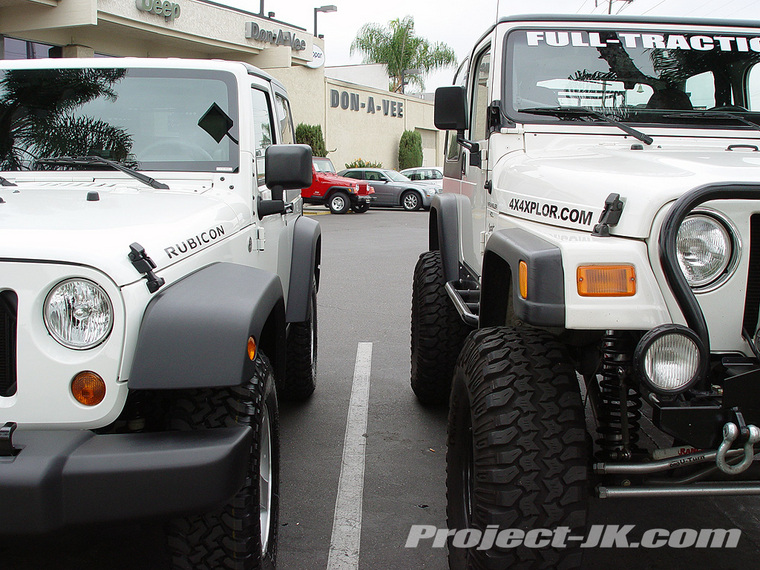 White Lifted Jeep >> 2007 JK Rubicon vs. My 2000 TJ Wrangler - JK-Forum.com ...