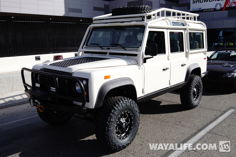 2014 Sema White Land Rover Defender 110