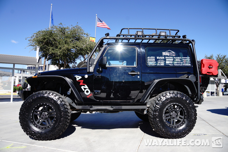 2014 Sema Black Anzo Jeep Jk Wrangler 2 Door