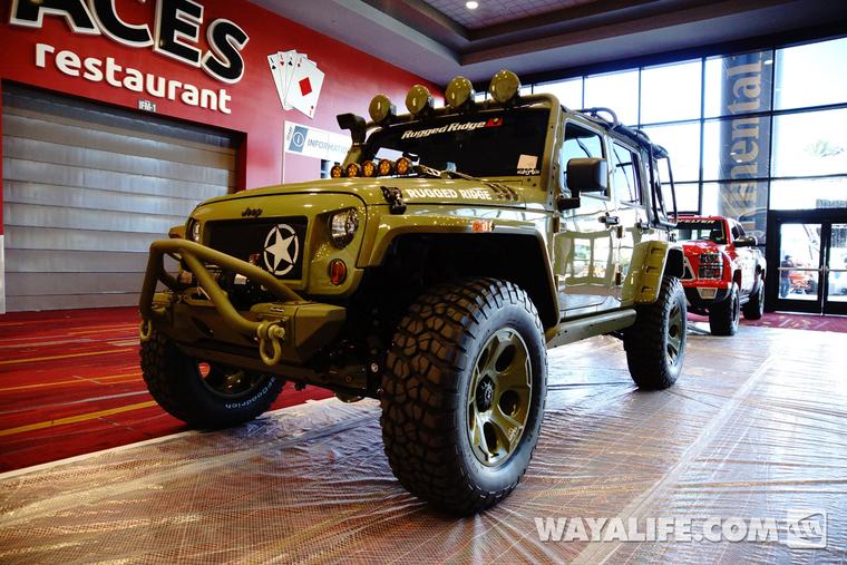 2014 Sema Commando Green Rugged Ridge Kilroy Jeep Jk