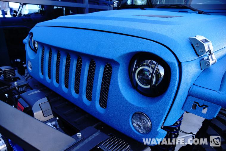 Spray In Bedliner Cost >> 2014 SEMA Starwood Motors Blue VPR Jeep JK Wrangler Unlimited