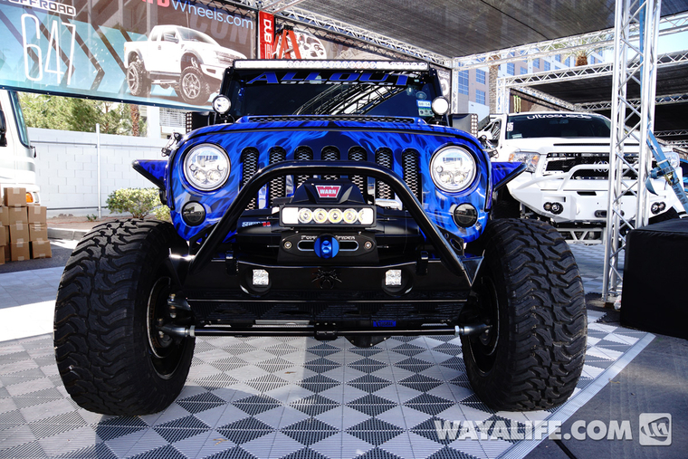 2014 SEMA All Out Off-Road Purple-Blue Flame / Black Jeep ...