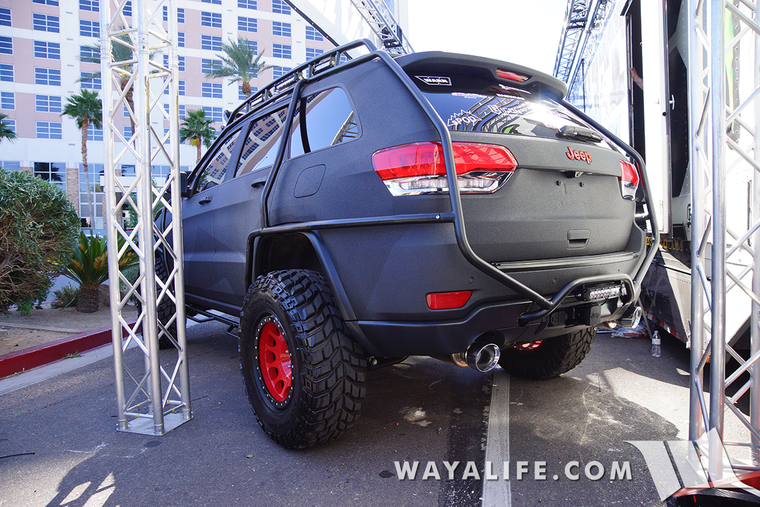 Lifted Jeep Renegade >> 2015 SEMA Charcoal Bulletproof Jeep WK2 Grand Cherokee