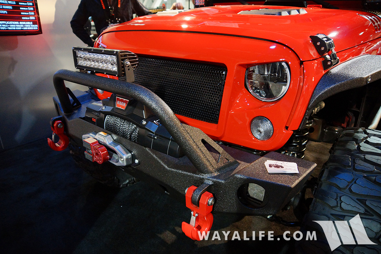 2015 sema rhino lining red jeep jk wrangler unlimited for Rhino liner jeep exterior cost