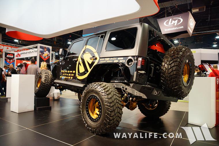 2015 Sema Spyder Black Gold Jeep Jk Wrangler Unlimited