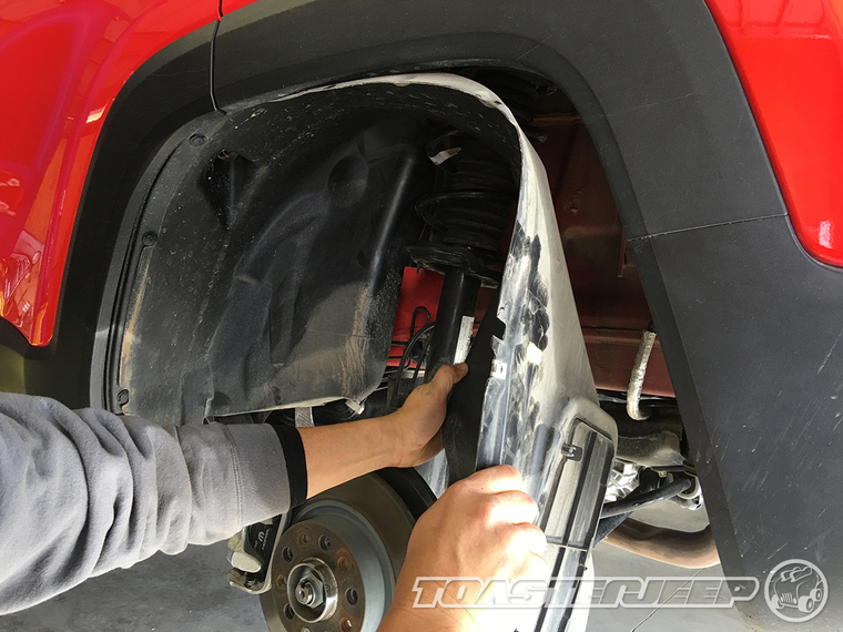 Jeep Fender Well : Jeep renegade daystar quot lift kit installation write up