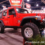 WARN Flame Red Jeep JK Wrangler Unlimited 4-Door