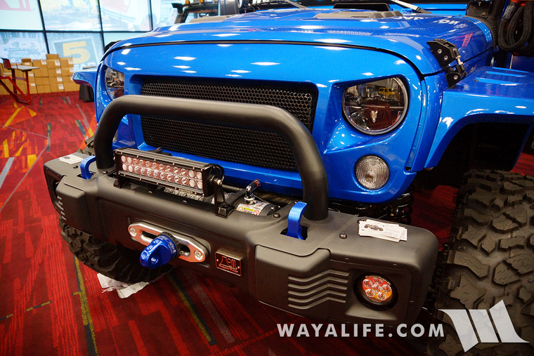 2015 SEMA Rugged Ridge Hydro Blue Jeep JK Wrangler Unlimited