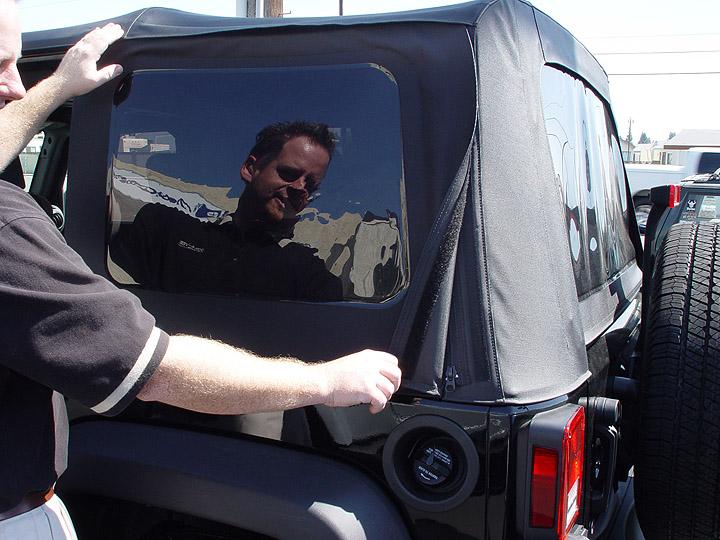 Jeep JK Wrangler Sunrider Soft Top Removal ...