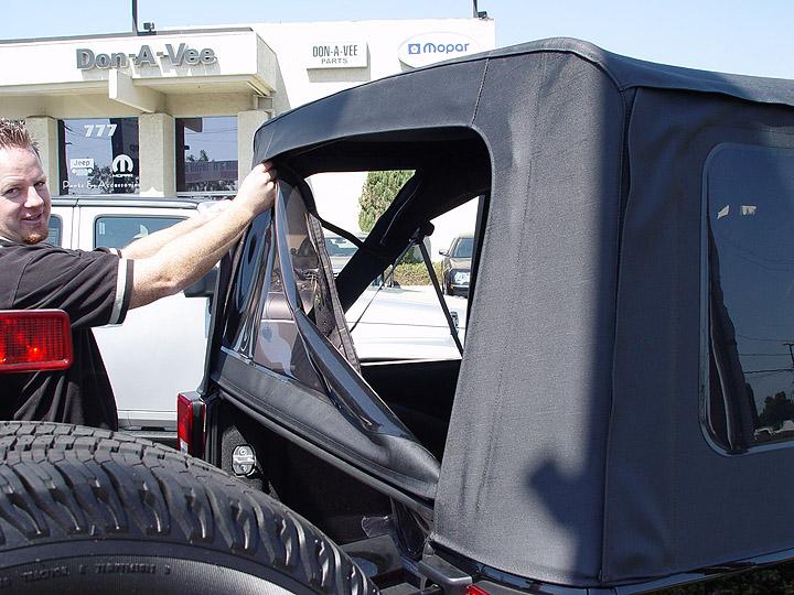 ... Jeep JK Wrangler Sunrider Soft Top Removal