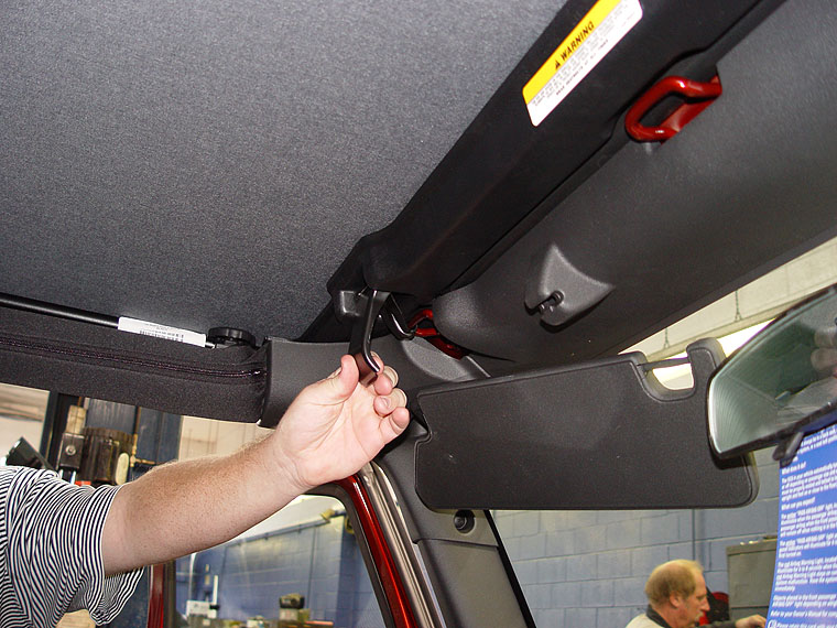 Opening Up the Sunrider Soft Top Sun Roof on a 2007 Jeep JK Wrangler ... b2c536d9b6e
